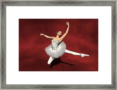 Prima Ballerina Kiko Jete Leap Pose Framed Print by Andre Price