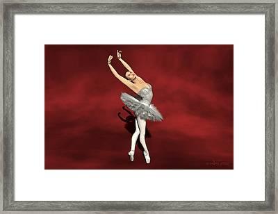 Prima Ballerina Kiko On Pointe Pose Framed Print by Andre Price
