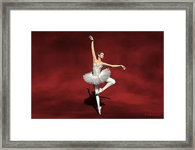 Prima Ballerina Kiko Pirouettes Pose Framed Print by Andre Price