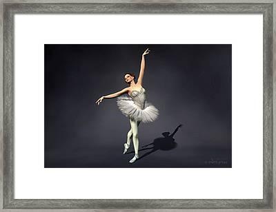 Prima Ballerina Nanashi Croise Derriere Pose Framed Print by Andre Price
