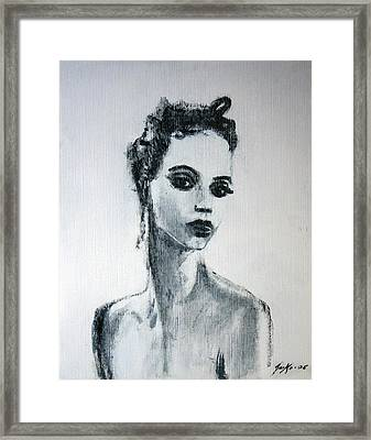 Framed Print featuring the painting Primadonna by Jarmo Korhonen aka Jarko