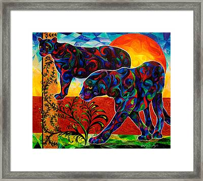 Primal Dance Framed Print