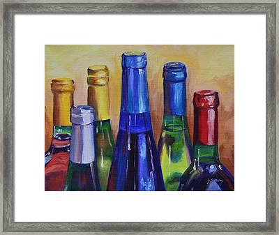 Primarily Wine Framed Print by Donna Tuten