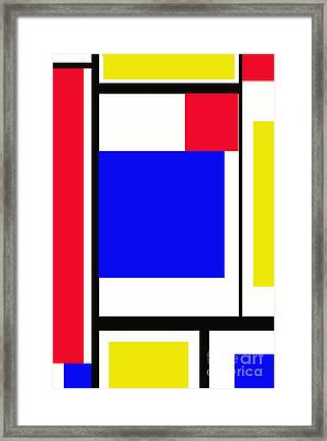 Primary Abstract Motivational Framed Print by Tom Gari Gallery-Three-Photography