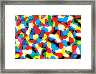 Primary Alsorts Framed Print