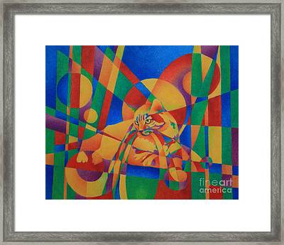 Primary Cat IIi Framed Print by Pamela Clements