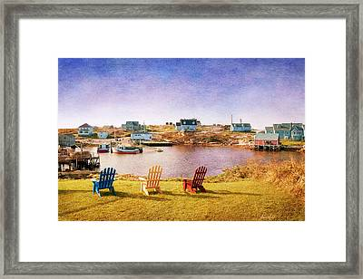 Primary Chairs - Digital Art Framed Print by Renee Sullivan