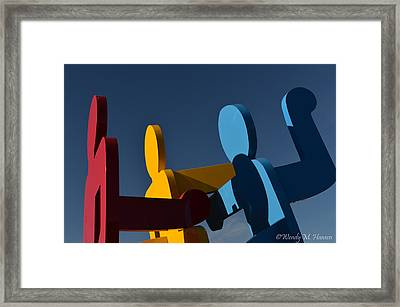 Primary Colors Framed Print by Wendy Hansen-Penman