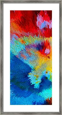Primary Joy - Abstract Art By Sharon Cummings Framed Print
