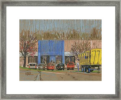 Primary Loading Docks Framed Print