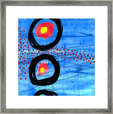 Primary Movement - Square Framed Print by Carol Leigh