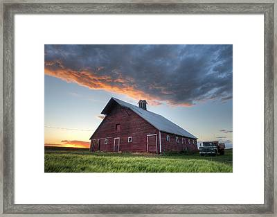 Primary Palouse Colors Framed Print