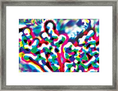 Primary Ripples Start Framed Print
