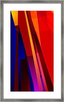 Primary Skyscrappers Framed Print by James Kramer