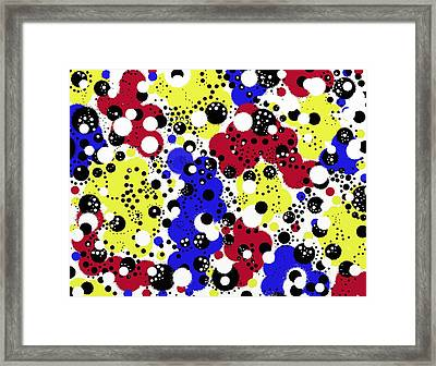 Primary Speck Framed Print