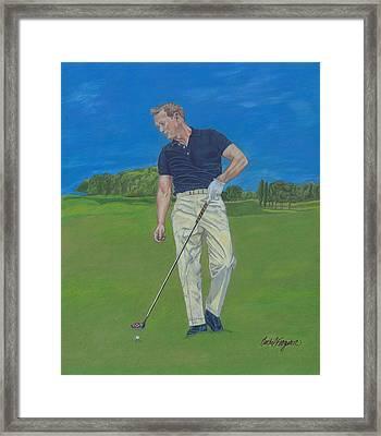 Prime Arnold Palmer Framed Print by Rachel Ferguson