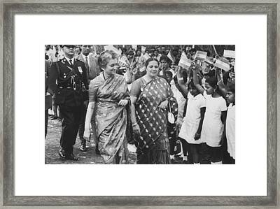 Prime Minister Indira Gandhi Framed Print by Underwood Archives