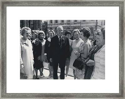 Prime Minister Meets Conservative Women M. P ��s Framed Print by Retro Images Archive
