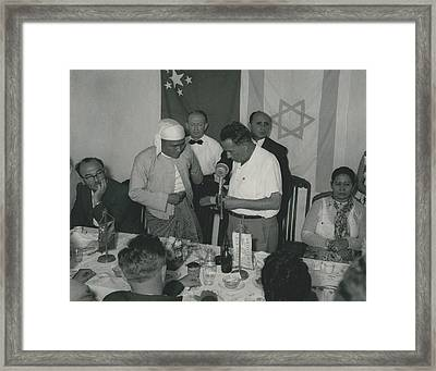 Prime Minster Of Burma On Visit To Israel. Receives A Framed Print by Retro Images Archive
