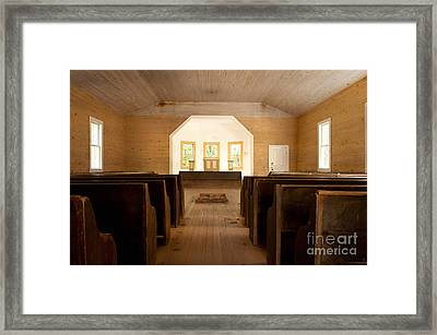 Primitive Baptist Church Framed Print by Lena Auxier