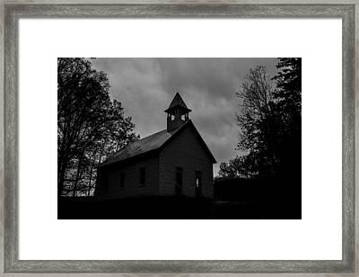 Primitive Church Framed Print by Sherri Duncan