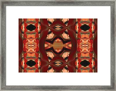 Primitive Connections Framed Print by Georgiana Romanovna