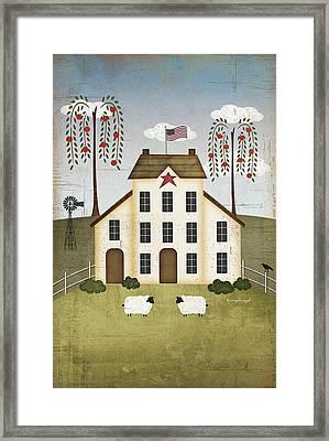 Primitive House Framed Print by Jennifer Pugh