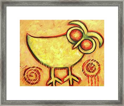 Primitive Owl Framed Print