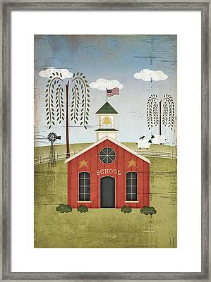 Primitive School Framed Print by Jennifer Pugh