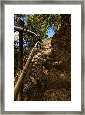 Primitive Stairway Framed Print by Mario Legaspi