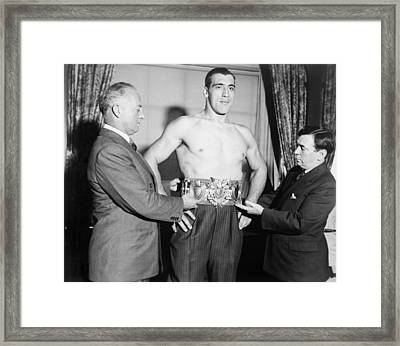 Primo Carnero, Wearing Worlds Framed Print by Everett