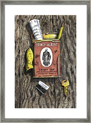 Prince Albert Nailed To The Wall Framed Print by Bob Hallmark