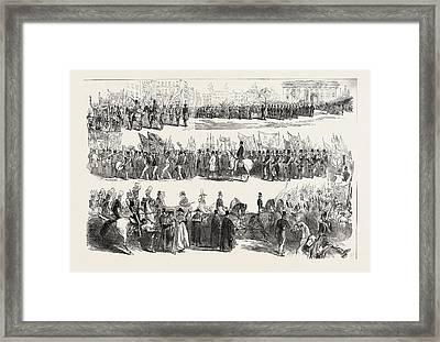 Prince Alberts Visit To Liverpool The Great Procession Framed Print