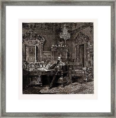 Prince Alexander Of Bulgaria At Home The Princes Study Framed Print by Litz Collection