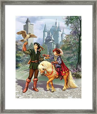Prince And Falconer Framed Print by Zorina Baldescu