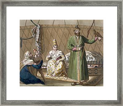 Prince And Head Of State Of The Kirghiz Framed Print by Italian School
