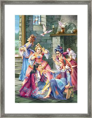 Prince And Slipper Framed Print by Zorina Baldescu