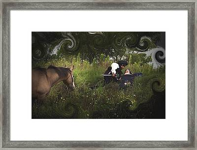 Prince And Snow White Framed Print