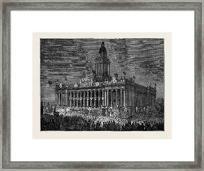 Prince Arthur At Leeds The Townhall Illuminated Framed Print