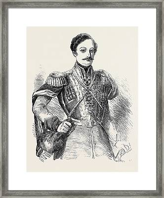 Prince Bebutoff, The New Russian Commander-in-chief In Asia Framed Print by English School