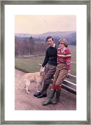 Prince Charles And Lady Diana Framed Print by Retro Images Archive