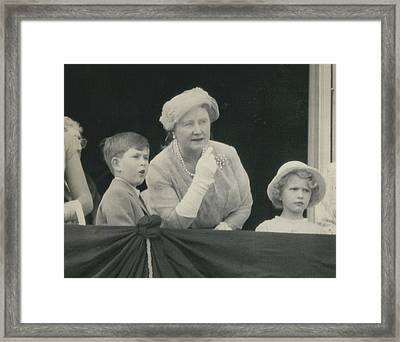Prince Charles And Princess Anne Look For Their Lither To Framed Print by Retro Images Archive