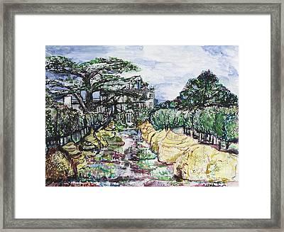 Prince Charles Gardens Framed Print by Helena Bebirian