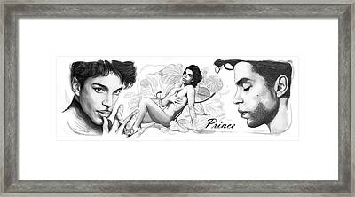 Prince Drawing Art Sketch Poster Framed Print by Kim Wang