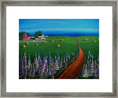 Prince Edward Island Coastal Farm Framed Print