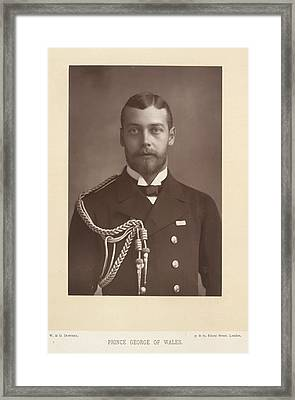 Prince George Of Wales Framed Print by British Library