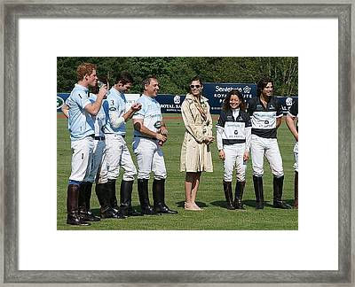 Prince Harry Delfina Belquier And Nacho Figueras Framed Print