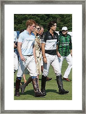 Prince Harry Delfina Belquier Nacho Figueras Framed Print