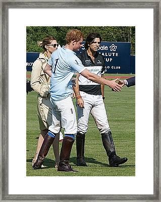 Prince Harry Handshake Framed Print