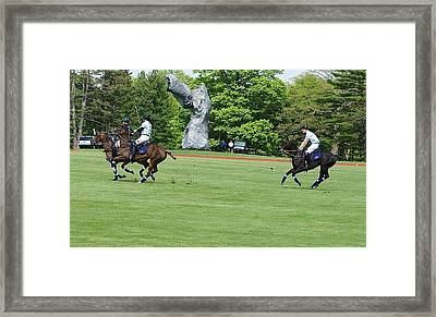 Prince Harry Polo Action Framed Print
